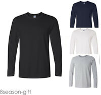 2017 Summer Mens Slim Fit Crew Neck Cotton Long Sleeve Casual T-Shirt Tops GW