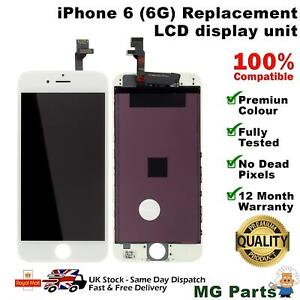 For iPhone 6 Screen Replacement LCD Touch Display Digitizer Assembly White UK