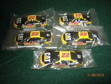 "Diecast Nascar 1:64 Scale (3"") Cat #22 Ward Burton ""New"" Set of 5"