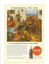 "Original Vintage 1945 Coca Cola Print Ad 10 x 6 7/8 Titled ""La Moda Americana…"
