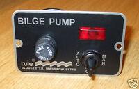 Marine bilge pump switch RULE 3 way 12v illuminated deluxe   MODEL 41