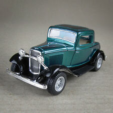 1932 Ford Coupe 1:34 Scale Die-Cast Vintage Model Car Suicide Doors Teal Green