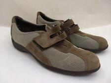 Munro Sport Jolie Brown Fabric Suede Walking Shoes Work Sneakers Flats Womens 7