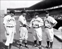 Dimaggio Gehrig McCarthy Chapman Photo 8X10 - Yankees