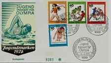 "FDC Berlin MiNr 517-520 (7G) ""Jugend 1976: Jugend trainiert für Olympia"" -Sport-"