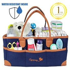 Ageerang Diaper Caddy Organizer - Water Resistant Inner Portable Nursery Bag Xl