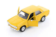 Maisto 1971 Datsun 510 Die-cast Model Car 1:24 Scale 7 inches Yellow