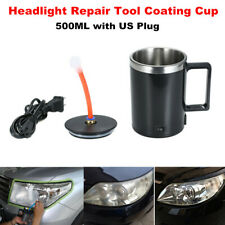 Car Headlight Lens Atomizing Cup Coating Repair Restoration Tool 220V US Plug