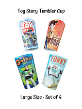 Toy Story Tumbler Mug Cup 4 Piece Set Disney Pixar Holographic 3D Party Loot Bag