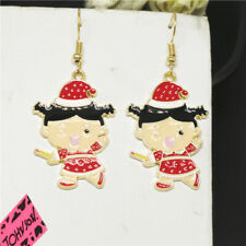 Girl Betsey Johnson Women Stand Earrings New Red Enamel Cute Hat Cartoon