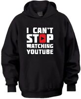 I CAN'T STOP WATCHING YOUTUBE XMAS GIFT BIRTHDAY KIDS HOODIE