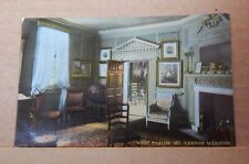 Postcard America West parlor MT Vernon Mansion VA ,unposted