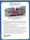 Fire Equipment Brochure - 4 Guys - Pumper Tanker Rescue - 3 items (DB274)