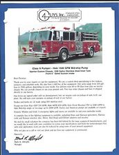 Fire Equipment Brochure - 4 Guys - Pumper Tanker Rescue - 3 items (DB274)