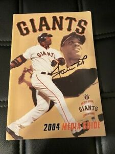 Willie Mays Signed 2004 San Francisco Giants Media Guide Book JSA Sticker ONLY