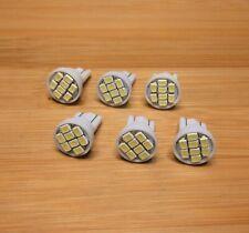 6 BBT Super Bright 12 volt T10 Wedge 8 White LED Gauge Light Bulbs