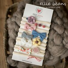 Baby Girl Headbands and Bows, Newborn Infant Toddler Hair Accessories, 10-Pack