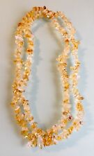 "CITRINE QUARTZ CRYSTAL LONG LINE NECKLACE 34"" - GEMSTONE CRYSTAL HEALING"