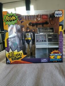 Mattel DC Comics 1966 Batman TV Series To The Batcave! Batman Action Figure Set