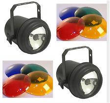 """Lot of 2 Disco Ball SPOT LIGHT FOR 8 12 16 20 & 24"""" - PINSPOT PIN MIRROR LITE"""