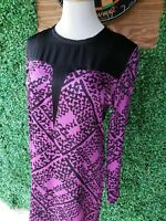 F/W 2011 Yves Saint Laurent Magenta Silk Cheongsam Dress Italy size 36 Purple