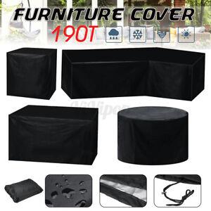 Furniture Table Chair Cover Outdoor Garden Patio Waterproof Dustproof Heavy Duty