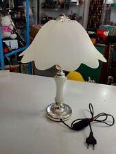 LAMPADA DA TAVOLO IN SILVER PLATED ANNI 80