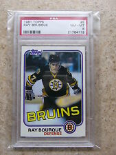 1981-82 81-82 Topps 2nd year #5 RAY RAYMOND BOURQUE Graded PSA 8