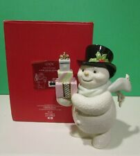 LENOX A VERY SPECIAL DELIVERY SNOWMAN sculpture NEW in BOX 6 1/4 inches