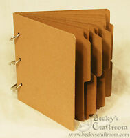 "5.5""x5.75"" Mini Tabbed Chipboard Album 10 pages 3 rings - use 6x6 paper pads!"