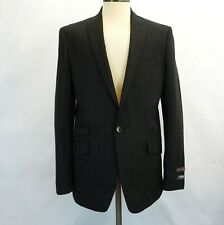 Ben Sherman Mens Suit Charcoal Pinstripe 1 Button Sport Coat Jacket 38S 32W pant