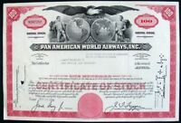 USA 1927 Pan American World Airways 100 Shares Bond Loan Stock Certificate