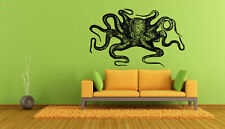 Wall Vinyl Sticker Decals Mural Room Design Art Octopus Ocean Fish Sea bo715