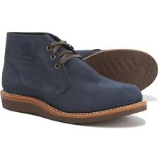 """Chippewa Milford Casual Chukka Boots Suede 5"""" Lace Up Navy Blue Mens Size 8.5 E"""
