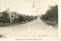 Vintage Real Picture Postcard Highland Ave Birmingham AL RPPC