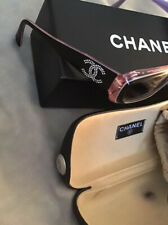 Chanel Sunglasses Black Pink Rhinestone 5095-b Vgc