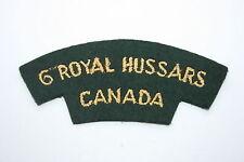 CANADA CANADIAN 6TH ROYAL HUSSARS CLOTH SHOULDER TITLE