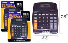2x LARGE JUMBO CALCULATOR BIG BUTTON 8 DIGITS DISPLAY SOLAR BATTERY NEW SEALED!