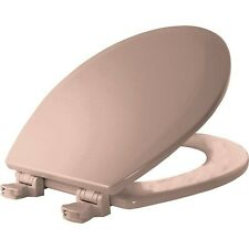 Bemis 500Ec 063 Toilet Seat with Easy Clean & Change Hinges, Round, Durable E.