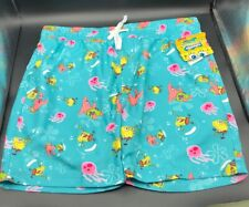 NEW Hot Topic Mens Nickelodeon Spongebob Squarepants Boardshorts Swimming  Sz L