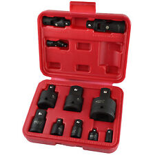 Impact Socket Adaptor Step Up Reducer And Universal Joint Set 11pc BERGEN AT881