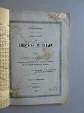 Chronologie de L'histoire du Canada L'Abbé L. N. Bégin 1924  Aide-Mémoire