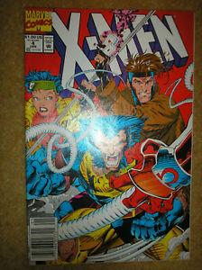 X-MEN # 4 1st APP OMEGA RED LEE NEWSSTAND VARIANT $1.00 1992 MARVEL COMIC BOOK