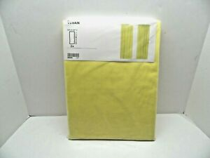 """New IKEA VIVAN Pair of Yellow Window Curtain Panels, 57x98 1/2"""" ea - 703.893.23"""