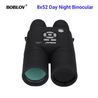 8x52 Optical Infrared Night Vision Binocular Telescope Spotting Scope Monocular