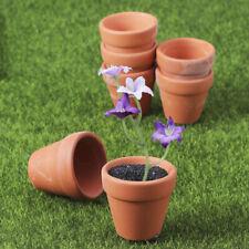 10 Pcs Mini Flower Pots Ceramic Planter for Flowers Succulent Cactus 3 Size AU