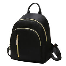 ITS- Women Girls Mini Black Nylon Backpack Casual Travel School Shoulder Bag Fas