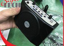 Amplificador De Cintura Mini Portátil Fm Usb Sd Mp3 Pa Micrófono Control Remoto