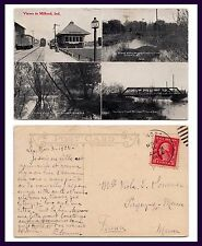 INDIANA MILFORD FOUR VIEWS 1922 IN FRENCH TO VIOLA SOMMER PAGNY SUR MEUSE FRANCE