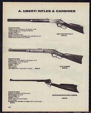 1988 A. UBERTI 1866 Sporting RIFLE~1873 & Buckhorn Revolving CARBINE AD